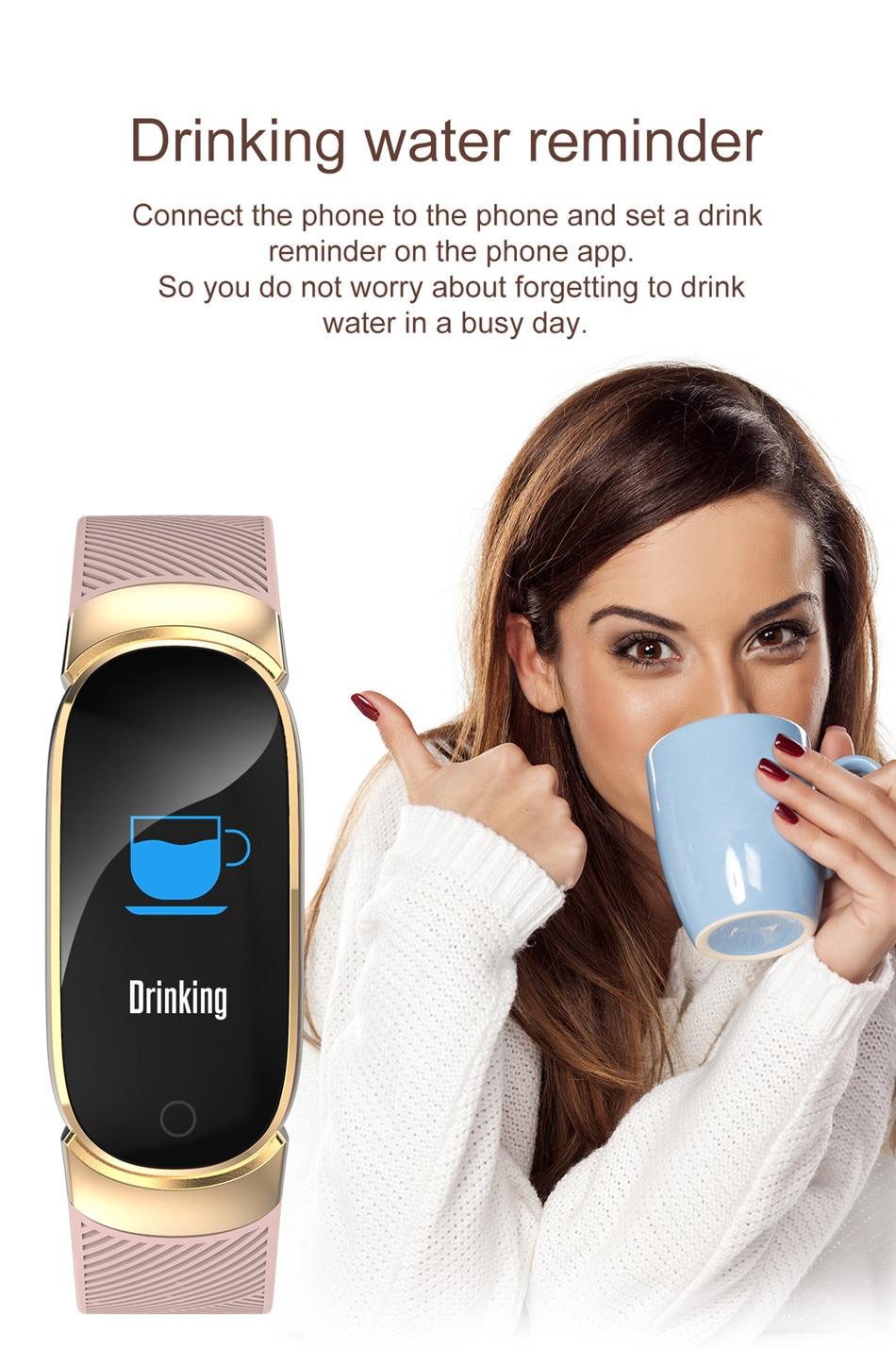 BANGWEI Women Sport Smart Watch Men LED Waterproof SmartWatch Heart Rate Blood Pressure Pedometer Watch Clock For Android iOS 10