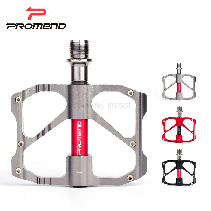 Promend 2017 MTB Pedal Mountain Bicycle Road Bike Pedal Slip-resistant Ultra-light Aluminum Alloy 3 Ball Bearing Cycling Pedals new safurance aluminium alloy mtb mountain road sport bicycle cycling bike short beam alarm lock 3 keys silver 140 alarm