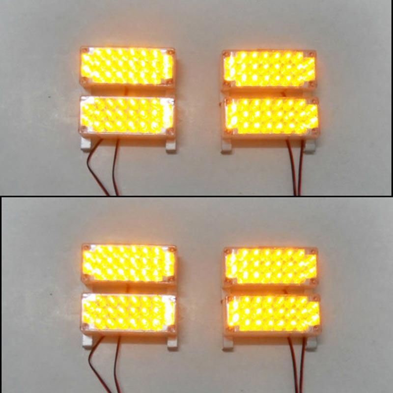 Car 8x22 LED Strobe Light Flash Warning EMS Police Truck Firemen Lamp 8*22 176LEDs Red Blue White Green Amber Yellow