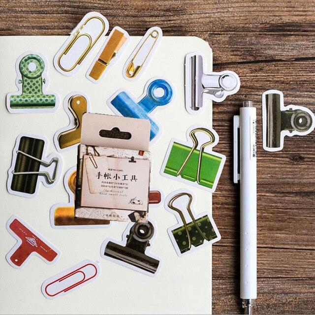 45 unids/set herramientas pequeñas lindas Mini pegatina de papel decoración DIY Ablum diario Scrapbooking suministros Etiqueta de diario pegatinas suministros