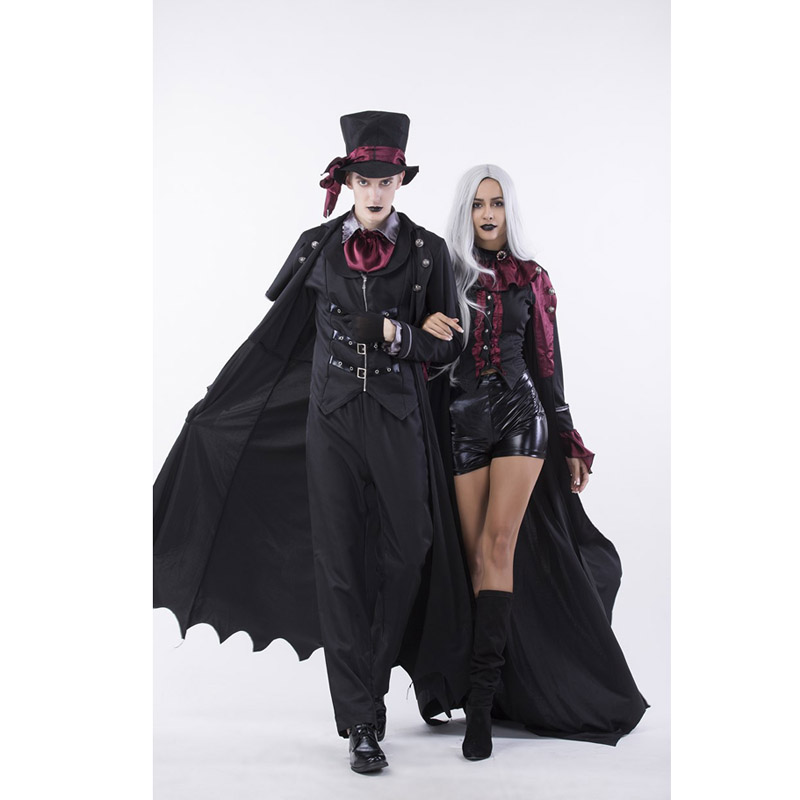 Female And Male Vampire Couple Costumes Halloween Party Black Lovers Vampire Costumes For Hallowmas Free Shipping Holiday Costume Stores Com