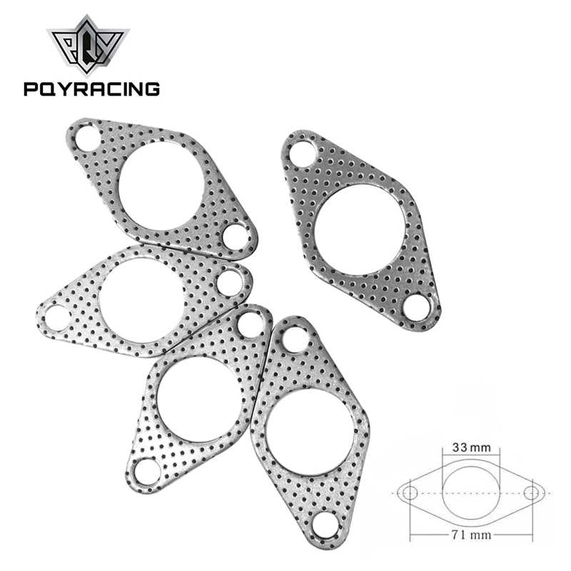 PQY - GRAPHITE ALUMINUM WASTEGATE DUMP PIPE TUBE FLANGE GASKET 35MM/38MM TURBOCHARGER PQY4954