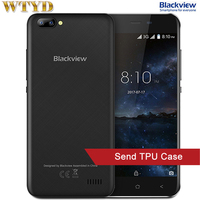 3G Blackview A7 RAM 1GB+ROM 8GB Dual Back Cameras 5.0 inch Android 7.0 MTK6580A Quad Core up to 1.3GHz Dual SIM GPS Smartphone