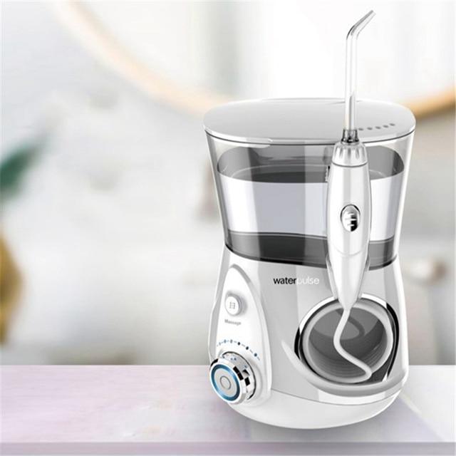Waterpulse V660 Pro irrigador Oral 12 presión hilo Dental y masaje Dental eléctrica de agua Flosser hilo irrigador Oral agua Dental de la UE