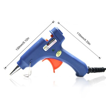 цена на Neitsi Professional 20W Hot Melt Glue Gun US Plug with 12pc Glue Stick DIY Tools for Hair Extensions