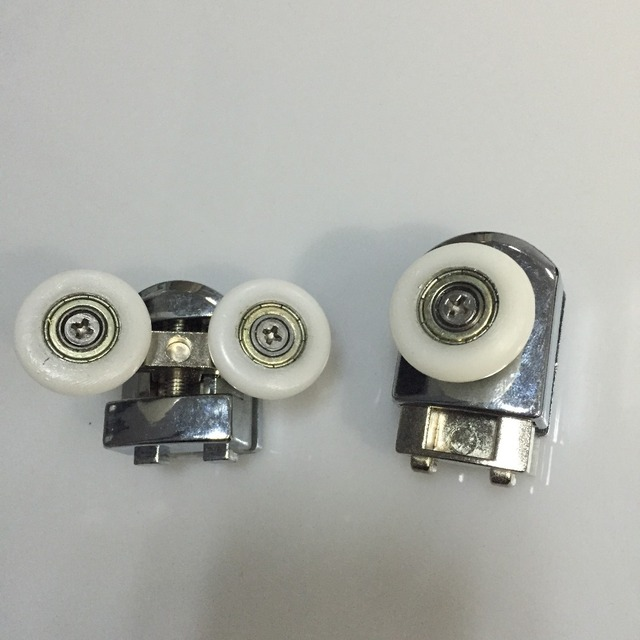 8 stcke twin boden zinklegierung duschtr rollen lufer rder 25mm durchmesser schiebetr rollen - Duschtur Rollen