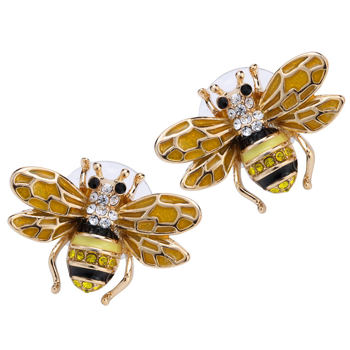 Considerate Yacq Honey Bee Stud Earrings Austrian Crystal Enamel Gold Color Fashion Jewelry Birthday Gifts Women Mom Girls Dropshipping Bee7 Orders Are Welcome.