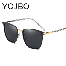 YOJBO Mens Sunglasses Brand Designer 2017 Luxury Mirror Polarized Sunglasses Women Vintage Retro Glasses Fashion Eyewear