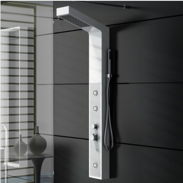 solid surface stone shower panel wall mounted shower column body massage jets sprinkler rs0038