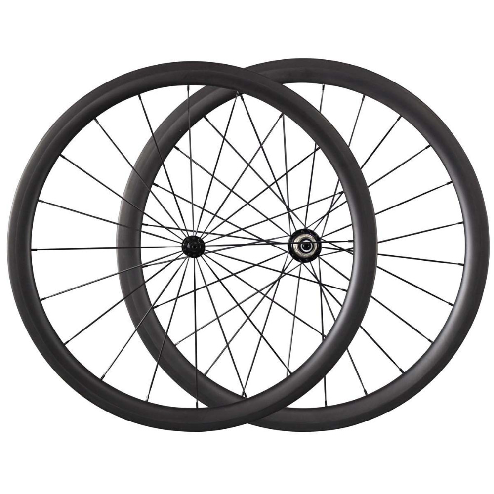 700C 38mm Carbon Clincher Tubular font b Wheels b font Road Bike Bicycle font b Wheels