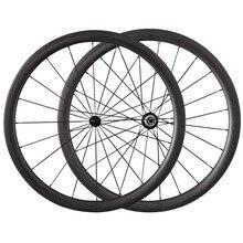 700C 38mm Carbono Tubular Ruedas Bici del Camino del Remachador Ruedas de Bicicleta Wheelset Powerway R13 Hubs 8 9 10 11 Velocidad