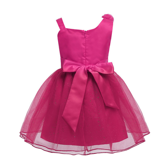 Sleeveless Pink Baby Party Dress
