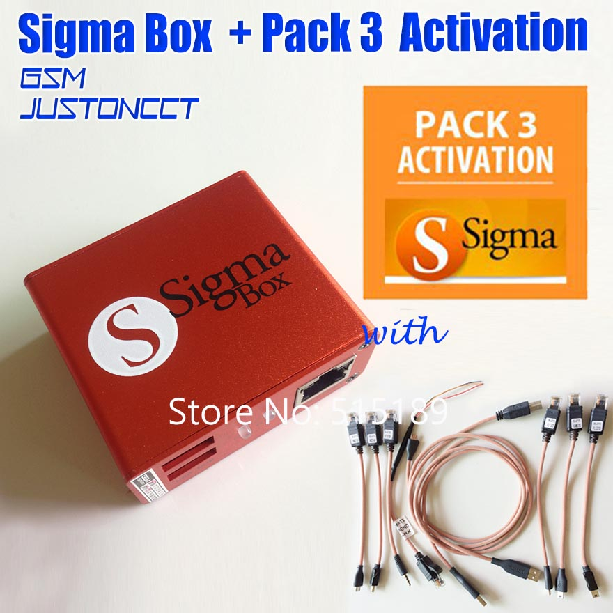 Hot Sale gsmjustoncct sigma box with pack 3 activation + 9cables For