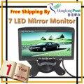 7 Polegada Tela In-Dash TFT LCD a Cores de Estacionamento Assistência Retrovisor Do Carro Headrest Monitor de DVD VCR, frete Grátis Por HK