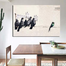 Birds Graffiti Banksy HD Canvas Painting Print Living Room Home Decoration Modern Wall Art Oil Posters Pictures Artwork