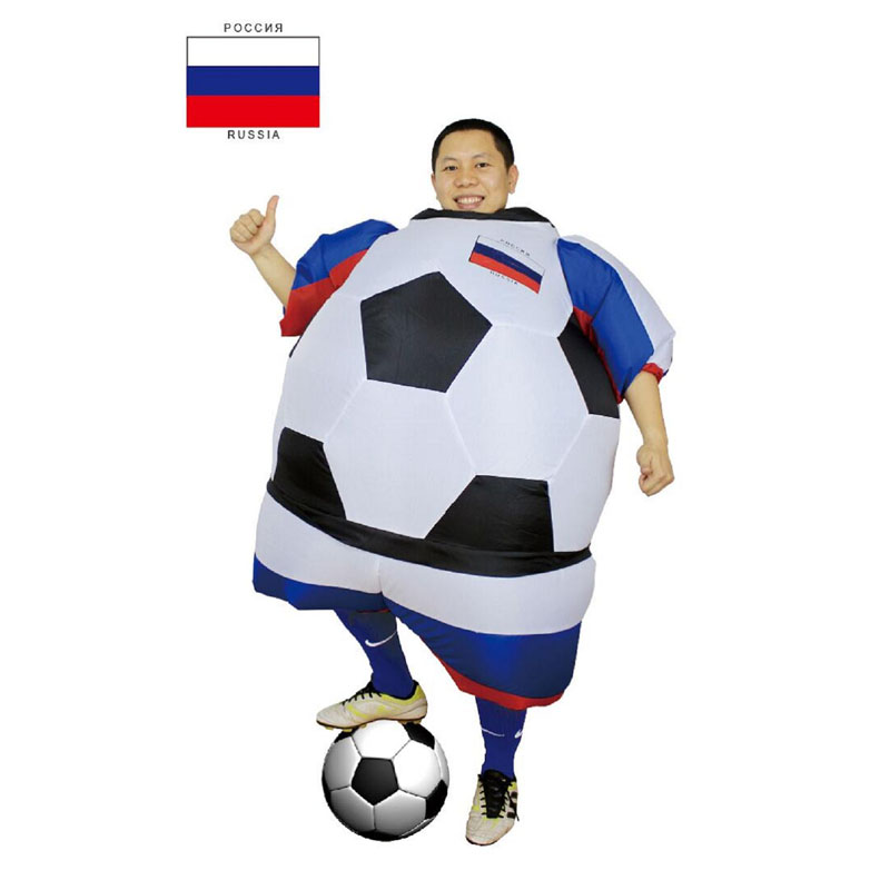 Foot ball Inflatable Costumes soccer Soccer ball carnival Halloween Costume For adults costume For Men and women Football Fan