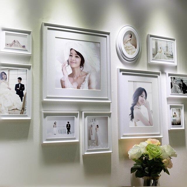 White Frame Set Part - 47: Creative Home Decor 10 Pcs White Wooden Photo Frame Set,Wall Picture Frames  Combination,