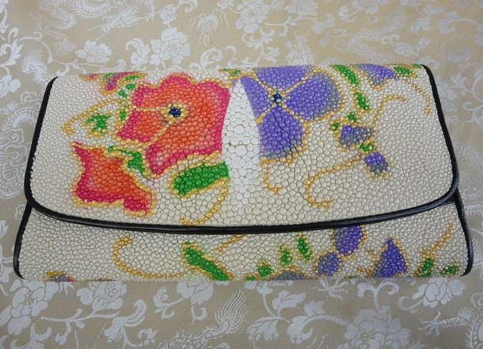 birkin inspired bag - New sale 100% real stingray wallet fashion dollar price women long ...