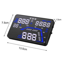 Universal Q7 5.5 pulgadas Auto Car HUD GPS Head Up Display velocímetros sobrevelocidad advertencia Dashboard del parabrisas del proyecto