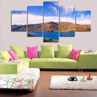 New Modern Style Abstract Oil Painting Canvas MountainStreet Landscape Pictures Decorative Paintings 3 Panel Wall Art