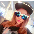 Outdoor sports Fashion trendsetter cotton clouds sunglasses. Soft wave frosted half frame sunglasses personality sunglasses