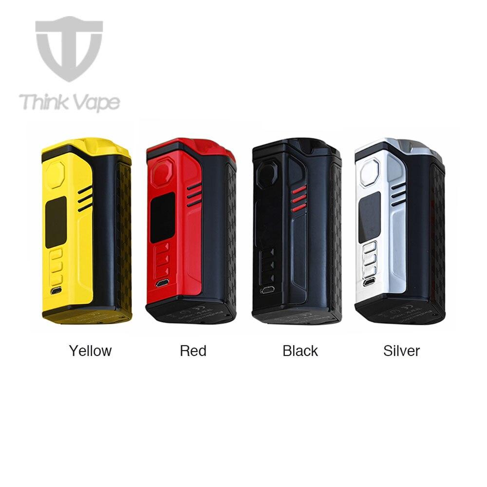Original pensez Vape Finder 250C 300 W TC boîte MOD avec adn 250C puce Max 300 W sortie No 18650 batterie VW/TC Finder DNA250C Mod