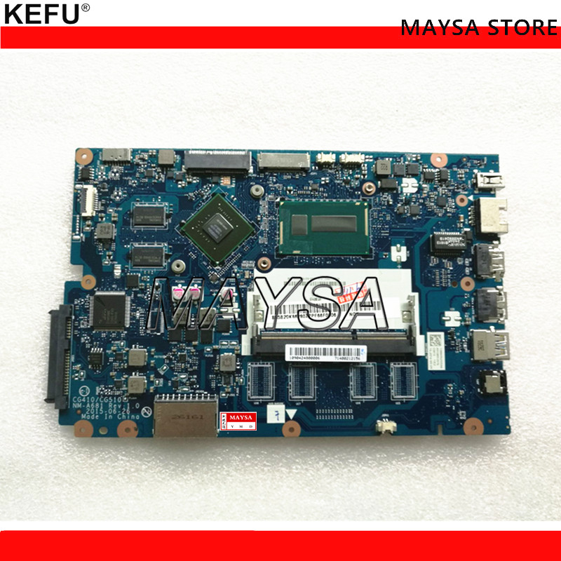 High quality FRU:5B20K25385 for Lenovo Ideapad 100-15IBD Laptop Motherboard CG410/CG510 NM-A681 <font><b>SR27G</b></font> I3-5005U 920M 1GB Tested image