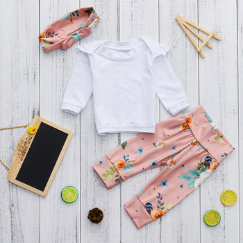MUQGEW Baby Girls  rompers Ruched Tops Shirt+Floral Print Pants Outfits Sets roupa de menina  vetement enfant fille Baby Rompers