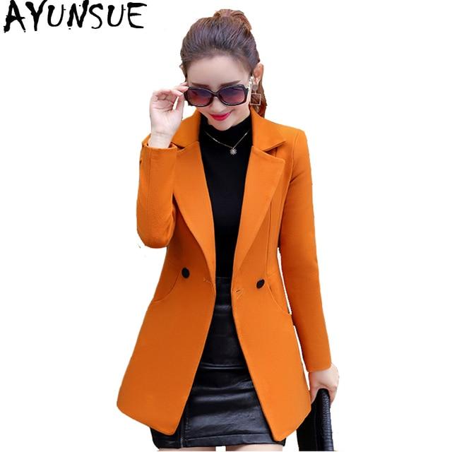 36dce4dd8c0 AYUNSUE Woolen Coat Female Korean Autumn Red Coat Women Coats And Jackets  Women 2018 Overcoat Woman