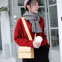 MICOCAH yellow shoulder bag women wide strap 2 straps crossbody bag woman PU leather bags brand MMSD177 цена и фото