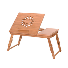 53cm Fashionable Sunflower Adjustable Bamboo Computer Desk Laptop Table Dropshipping