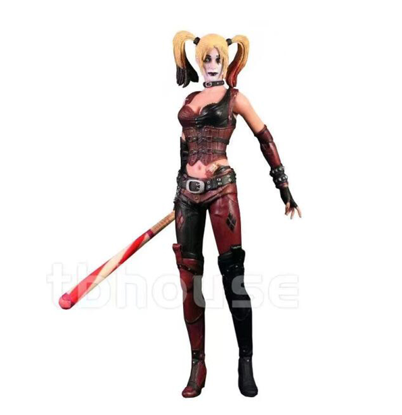 Suicide Squad Batman Begins Harley Quinn Figure Arkham City with Baseball Bat and Gun Action Figures Model Toy Doll Gift (4)
