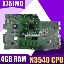 XinKaidi X751MD материнская плата rev2.0-N3540 4 ГБ для ноутбука ASUS k751M K751MA X751MA R752M Материнская плата ноутбука X751MD материнская плата 100% тестирование