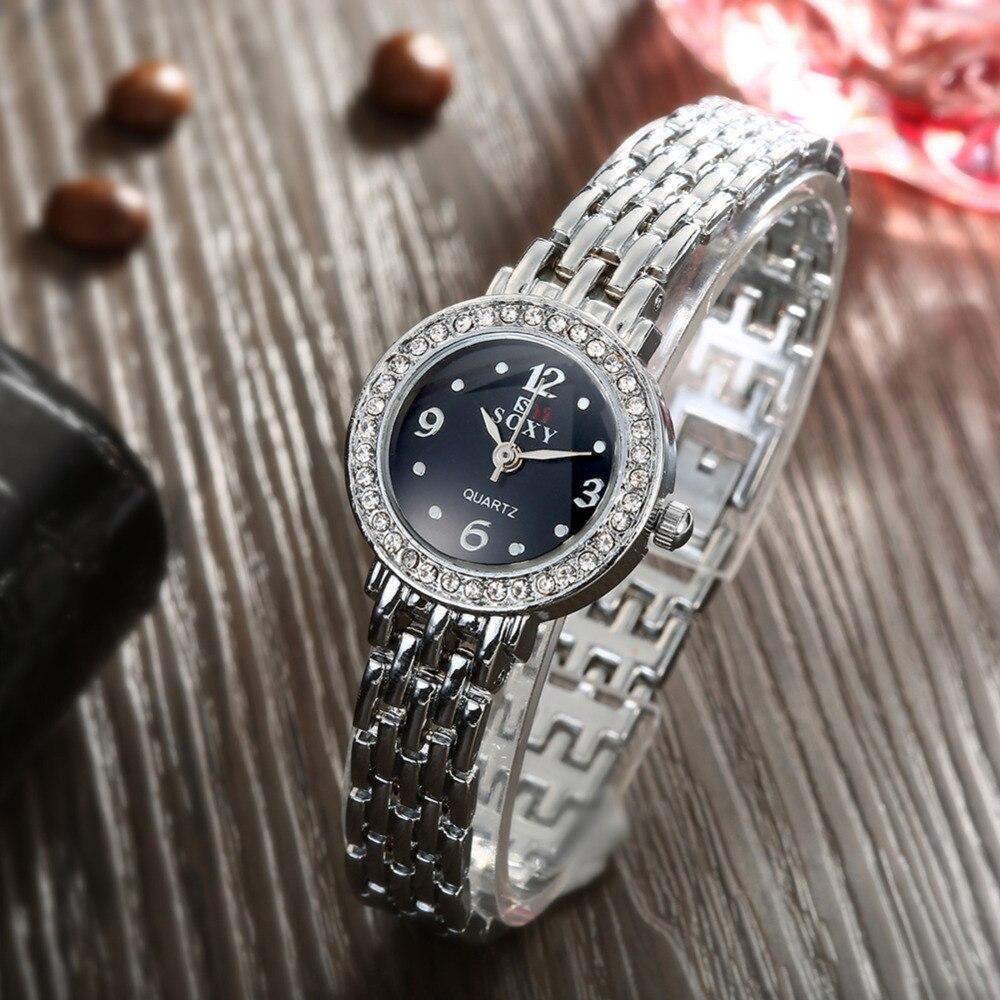 Mode Klocka Kvinnor Silver Klocka Kvinnor Armband Armbandsur - Damklockor - Foto 6