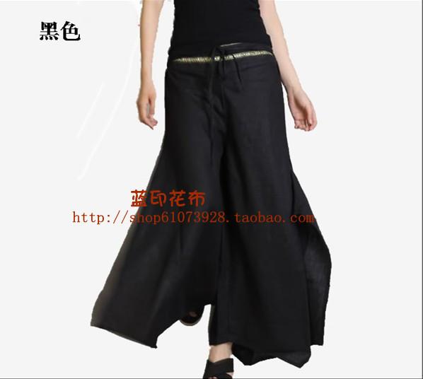 2016 preto, Vermelho, Branco, Cinza, Verde moda boemia sólidos calças soltas magros largas nas pernas das mulheres calças calças culottes grande tamanho para senhora