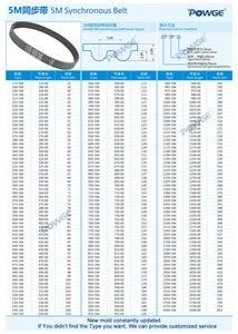Image 5 - POWGE Arc HTD 5M Timing belt C=490/495/500/505 width 15/20/25mm Teeth 98 99 100 101 HTD5M synchronous Belt 490 5M 495 5M 500 5M