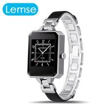 Lem2 reloj mujer montre femme del relogio smart watch bluetooth para apple ios android phone heart rate monitor de vida a prueba de agua