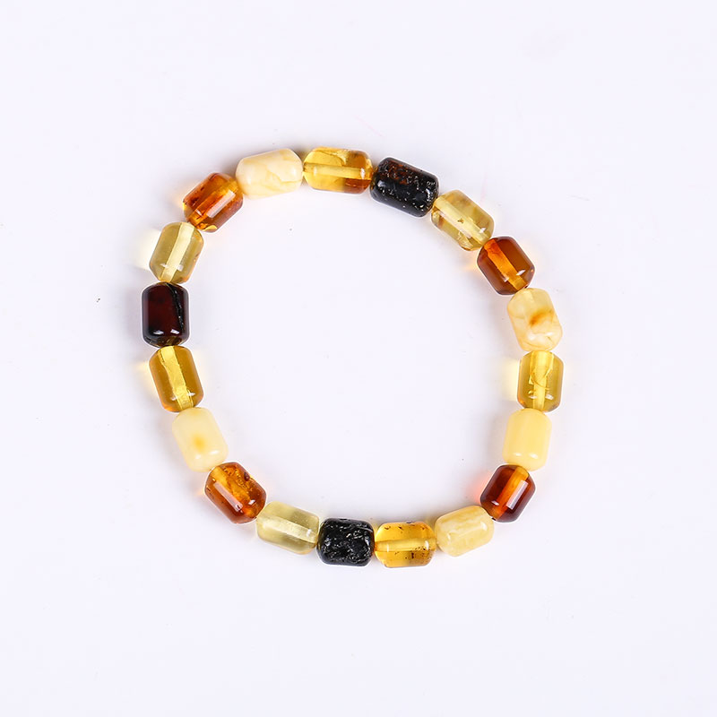 JIUDUO Pure natural amber bracelet full of honey chicken yellow old wax bead beads multi-turn DIY hand string female models pure hand made string beads bracelet amber abacus beads fringed bracelets baking blue craft accessories direct