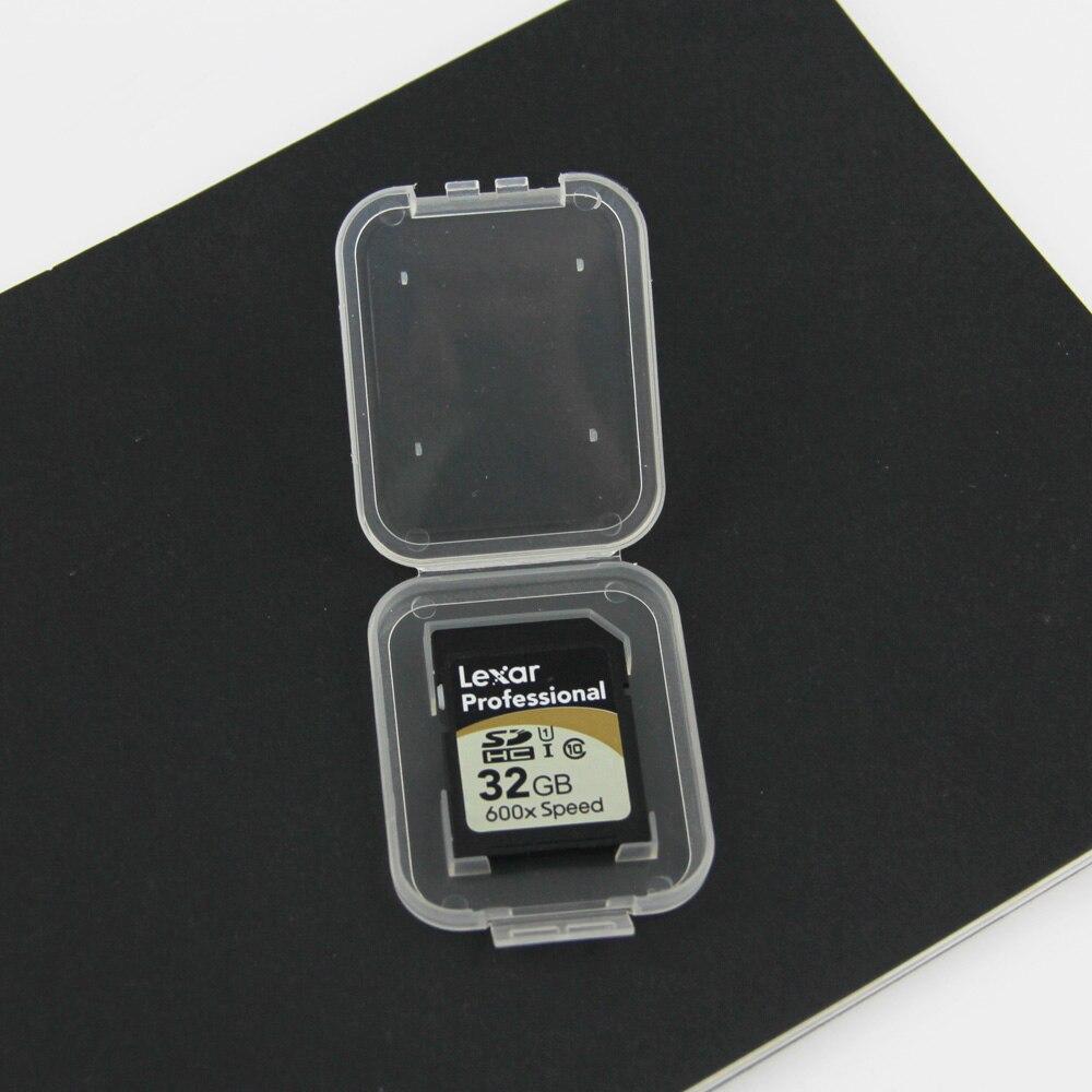 NOYOKERE Новый Лидер продаж 10 шт. SD SDHC держатель защитного кожуха карты памяти прозрачный пластиковый ящик для хранения-in Чехлы для карт памяти from Компьютер и офис