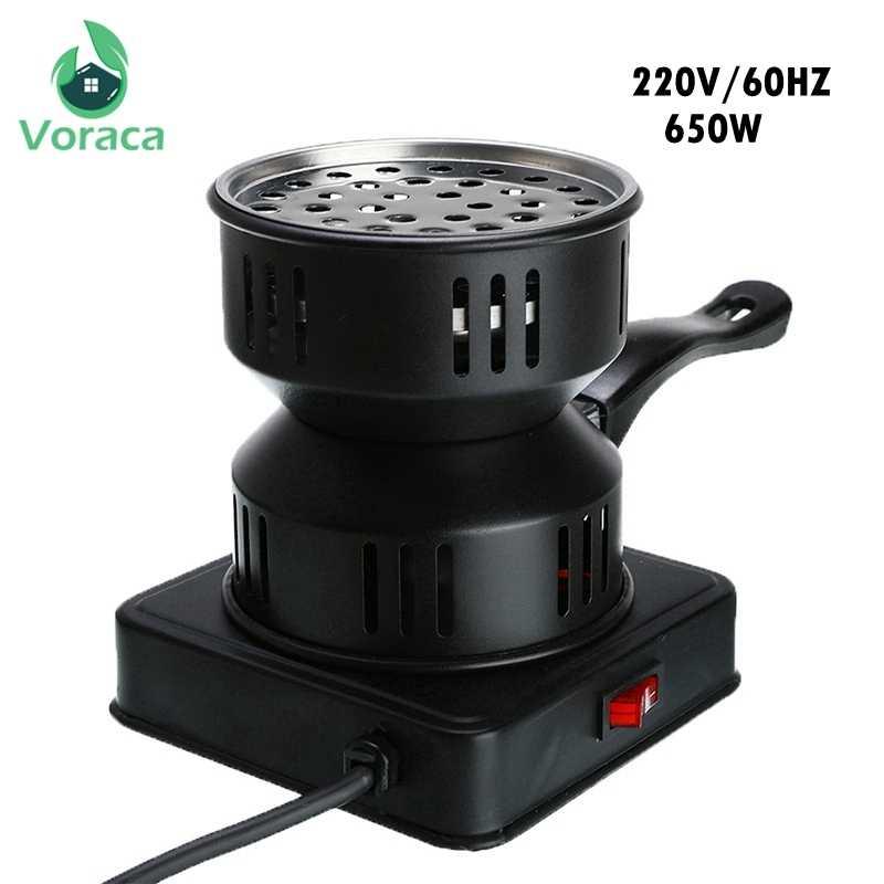 Profesjonalne Shisha węgiel do fajki wodnej piec grzejnik Mini plac węgiel piekarnik płyta grzejna węgiel palnik rury akcesoria ue wtyczka 220V