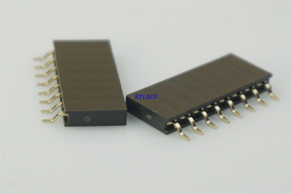 20pc Pin Female Header Pitch=2.54mm H=8.5mm Right Angle 90° 1x20p 1x20 20p RoHS