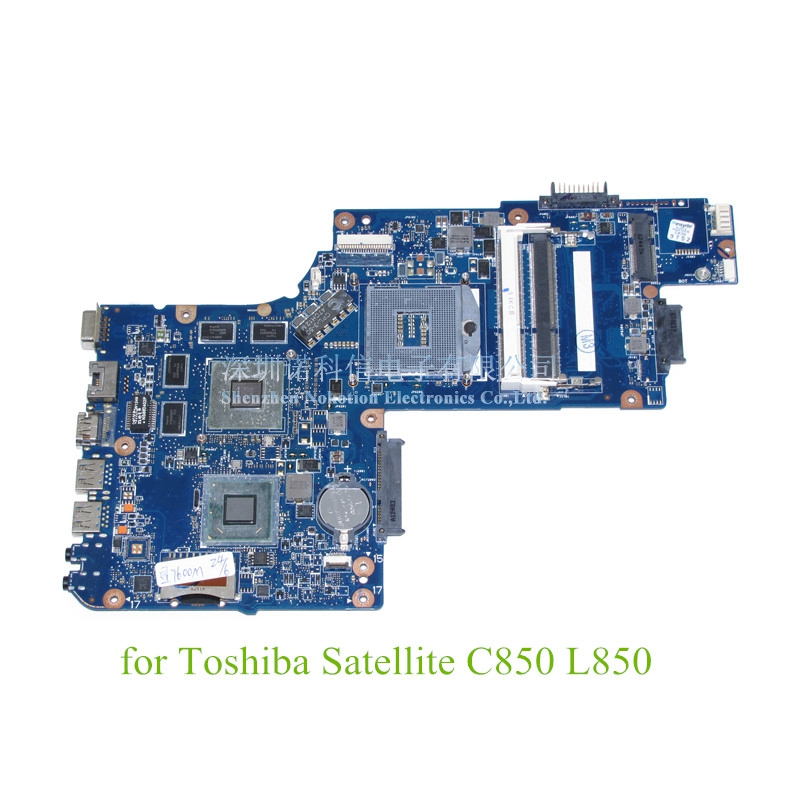 NOKOTION new H000052580 laptop motherboard For Toshiba Satellite C850 L850 15.6 screen ATI HD4000 DDR3 Mainboard nokotion for toshiba satellite c850d c855d laptop motherboard hd 7520g ddr3 mainboard 1310a2492002 sps v000275280