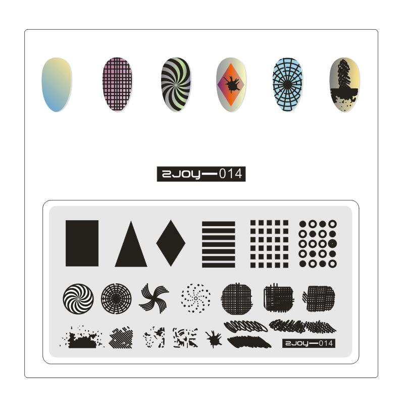 1PC Rectangle Stamp Template Animals Plants And Ice Cream Design Stamping Plate Manicure Nail Art Stamp Tool in Nail Art Templates from Beauty Health