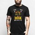Nova Camisa de T Dos Homens de Treinamento de Muay Thai MMA Ultimate Fighting lutadores Preto O Pescoço T-shirt Engraçado Algodão de Manga Curta Casuais camisas