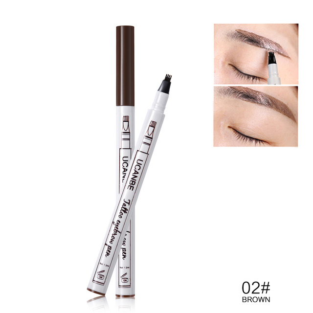 UCANBE Cosmetics Fine Sketch Liquid Eyebrow Pencil Makeup Waterproof Durable Tattoo Smudge-proof Eye Brow Pen 4