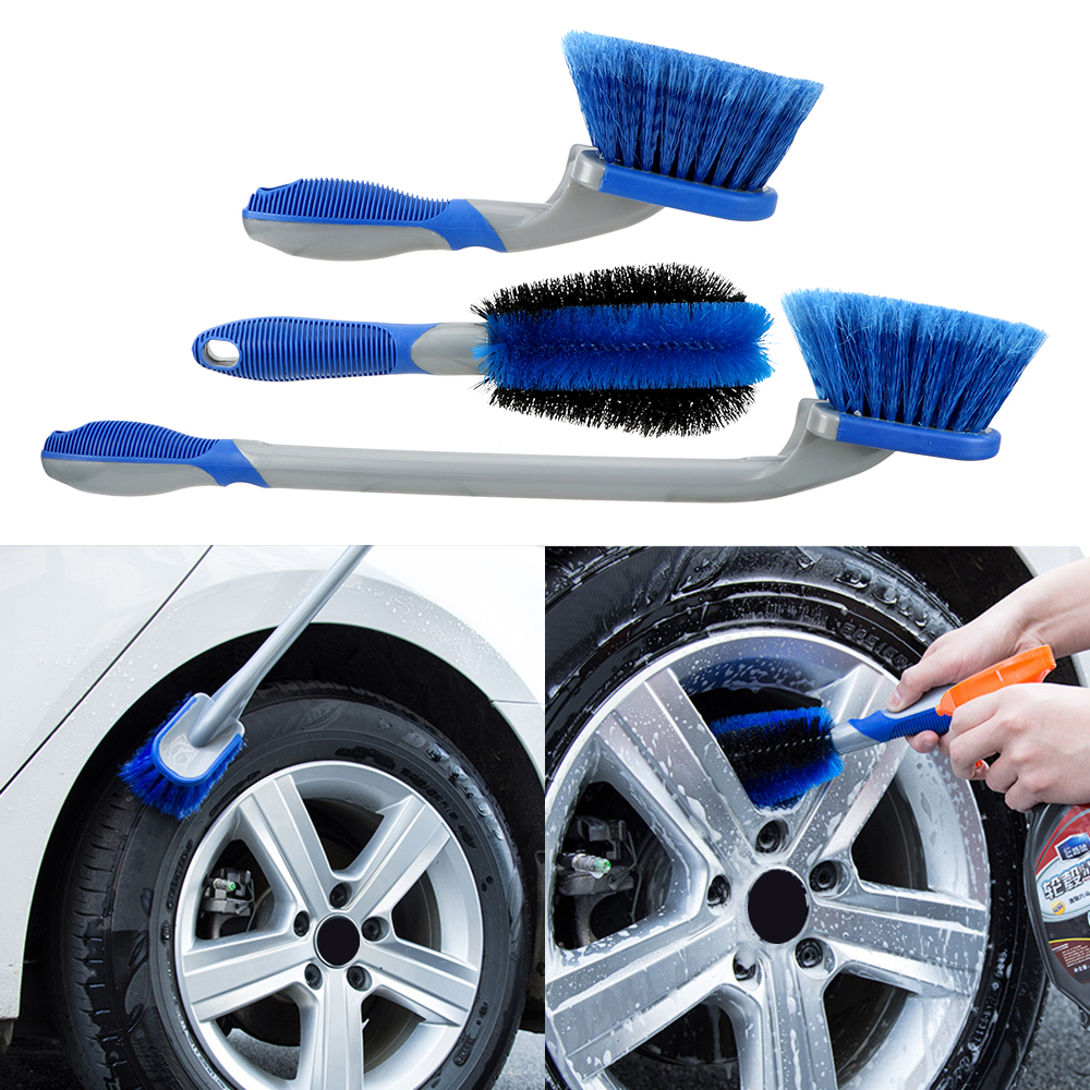 LEEPEE Multi-Functional Car Washing Tool Car Wheel Brush Car Wash  Tyre Cleaning Brush Car Dust