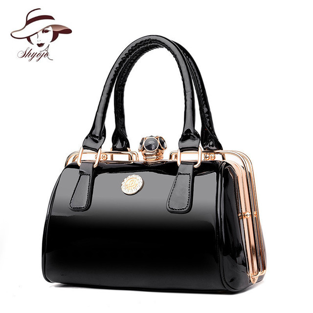 f695bc1a793c Famous Designer Big Women Handbag Patent Leather Shoulder Bags High Quality Diamonds  Ladies Large Capacity Tote
