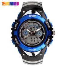 Moda skmei marca niños deportes relojes militares led digital de cuarzo reloj de los cabritos muchacha del muchacho estudiante multifuncionales de pulsera