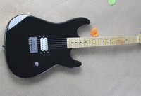 2019 New Arrival Factory Firehawk Black Custom Shop Maple Fingerboard Basswood Body Electric Guitar single pickup
