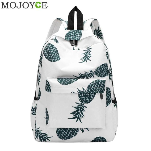 54fcabf75bb3 US $8.92 29% OFF|Pineapple Printing School Bags For Teenager Girls New  Designer Backpack Women Casual Travel Bookbags Laptop Rucksack Mochila  Hot-in ...